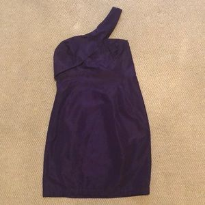ABS purple one shoulder cocktail dress!